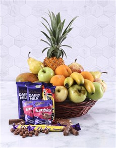 Fresh Fruit and Sweet Treats Basket