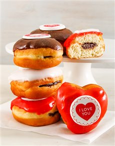Sweet Love Chocolate Filled Doughnuts