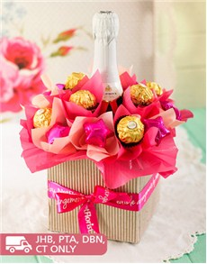 Pink Sparkling Chocolate Arrangement