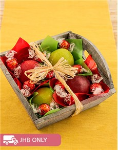 Sympathy - Hampers and Gifts: Fruit Basket of Apples and Lindt!