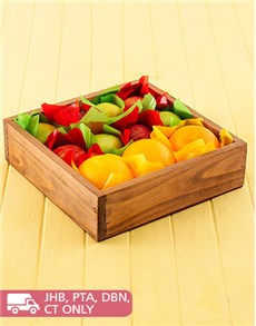 Sympathy - Hampers and Gifts: Wooden Gift Box of Fruit!