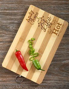 Chops it Like its Hot Personalised Board