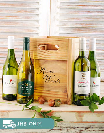 Congratulations - Hampers and Gifts: Wooden Crate of White Wines!