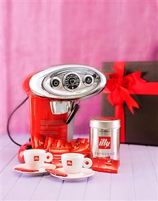 Engagement - Hampers and Gifts: Classic Illy Coffee Machine Combo!