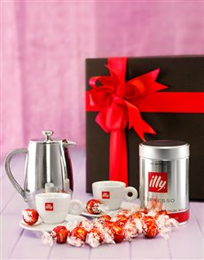 Engagement - Hampers and Gifts: Illy Coffee and Lindt Chocolate Hamper!