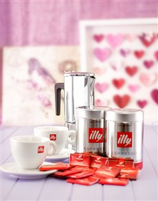 Engagement - Hampers and Gifts: Elegant Illy Coffee Hamper!