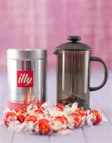 Engagement - Hampers and Gifts: Illy Coffee and Lindt Chocolate Gift!