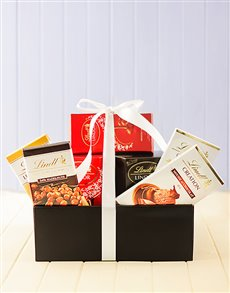 Friendship - Hampers and Gifts: Lindt Chocolate Deluxe Hamper!