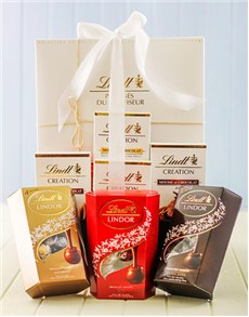 Friendship - Hampers and Gifts: Lindt Chocolate Delicacy Hamper!