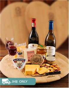 Love and Romance - Hampers and Gifts: Assorted Cheese Wine and Trudeau Board!