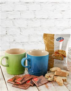 Thank You - Hampers and Gifts: Le Creuset Coffee Mugs with Chocolates & Biscotti!