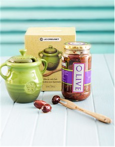 Engagement - Hampers and Gifts: Le Creuset Olive Jar!