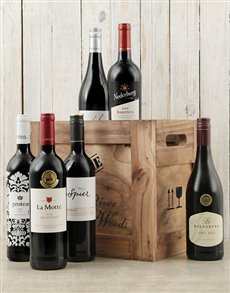Engagement - Hampers and Gifts: Six Bottles Of Red Wine in a Crate!