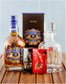 Gifts and Hampers: Chivas Regal Scotch Whisky and Lindt Chocolate!