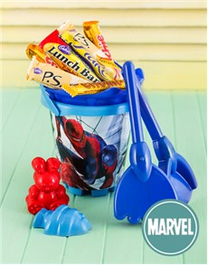 for Kids - for Boys: Spiderman Beach Bucket with Chocolates!
