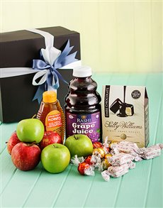 Rosh Hashanah - Rosh Hashanah: Gourmet Hamper with Kosher Grape Juice!