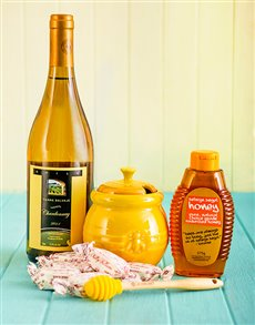 Rosh Hashanah - Rosh Hashanah: Le Creuset Honey Pot with Kosher Wine and Honey!