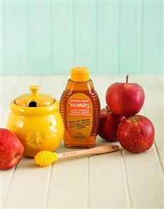 Rosh Hashanah - Rosh Hashanah: Le Creuset Honey Pot with Honey and Apples!