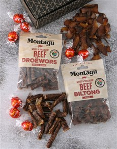 Gifts and Hampers: Gift Box of Biltong and Chocs!
