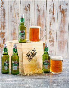 4 Pack Castle Lite in a Man Crate