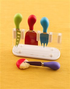 Multi-Coloured Cheese Knife Set