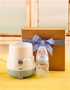 for Baby - Hampers and Gifts: Baby Boy Bottle Warmer Gift!