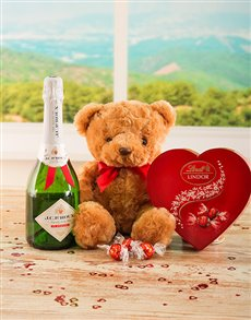 Love and Romance - Hampers and Gifts: Bubbly Bear & Lindt Gift!