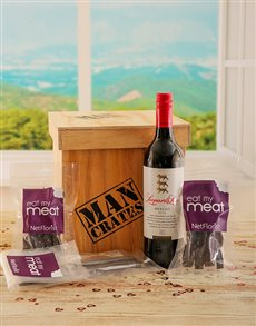 Love and Romance - Hampers and Gifts: Eat my Meat Man Crate!