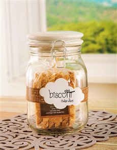 Gifts and Hampers: Candy Jar with Biscotti!
