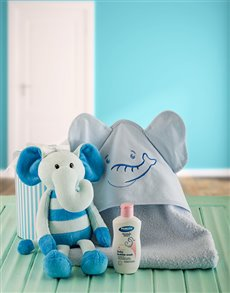 for Baby - Hampers and Gifts: Baby Boy Elephant Bath Time Set!