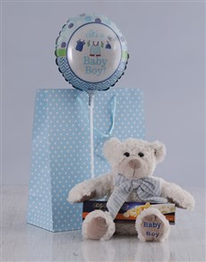 for Baby - Hampers and Gifts: It's a Boy Teddy and Nougat Hamper!