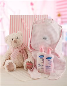 for Baby - Hampers and Gifts: Baby Girl and Bear Gift Set!