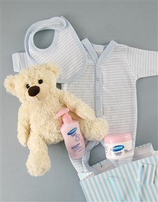 for Baby - Hampers and Gifts: Baby Boy and Bear Gift Set!