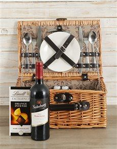 Wine and Lindt Picnic Basket