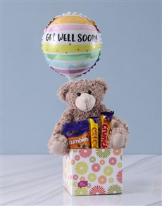 Gifts and Hampers: Get Well Chocolates and Teddy Hamper!