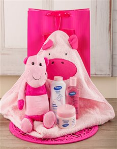 for Baby - Hampers and Gifts: Baby Girl Hippo Bath Time Set!