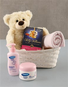 for Baby - Hampers and Gifts: Baby Girl Gift Basket !