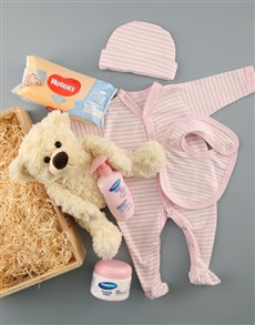 for Baby - Hampers and Gifts: Baby Girl Crate of Goodies!