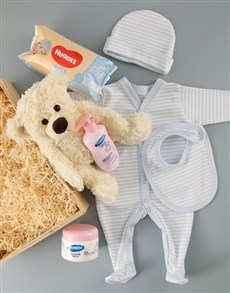 for Baby - Hampers and Gifts: Baby Boy Crate of Goodies!