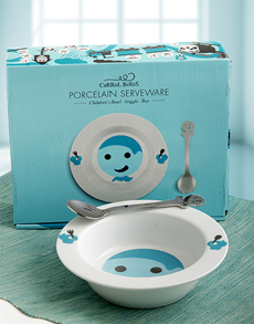 for Baby - Hampers and Gifts: Carrol Boyes Giggle Bowl Gift Set for Boys !