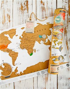 World Map Scratcher