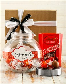 Lindt Chocolate Truffle Candy Jar