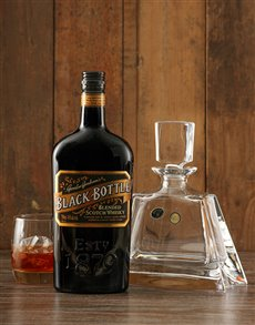 Gifts and Hampers: Black Bottle Decanter Gift!