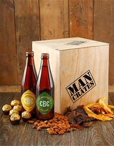Green and Gold Man Crate