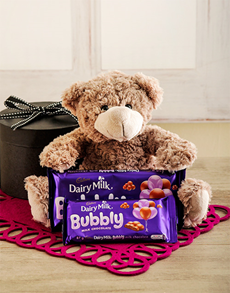 Congratulations - Hampers and Gifts: Congratulations Gift with Teddy & Cadbury Chocs!
