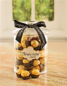 Congratulations - Hampers and Gifts: Congratulations Ferrero Rocher Candy Jar!