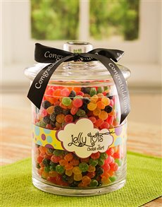 Congratulations - Hampers and Gifts: Congratulations Jelly Tot Candy Jar!