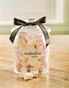 Congratulations - Hampers and Gifts: Congratulations Marshmallow Candy Jar!
