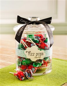 Congratulations - Hampers and Gifts: Congratulations Fizz Pop Candy Jar!