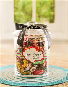 Congratulations - Hampers and Gifts: Congratulations Candy Jar with Passions Chocolate!